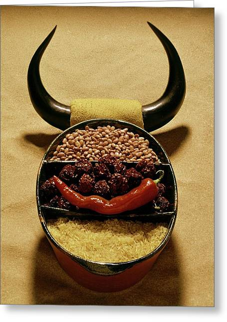A Pot With Beans Greeting Card