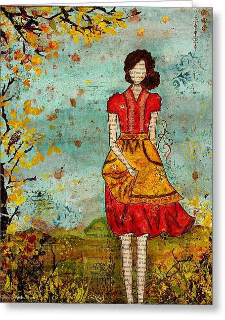 A Prairie Autumn Day Greeting Card by Janelle Nichol