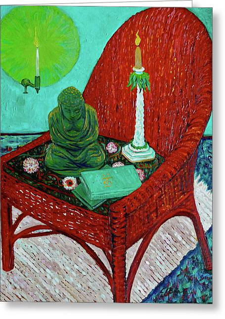 A Prayer For Vincent Greeting Card by Linda J Bean