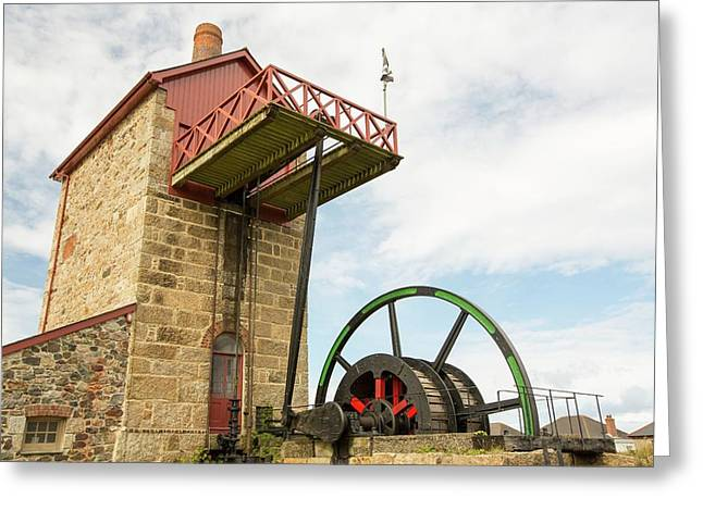 A Preserved Tin Mine Engine House Greeting Card