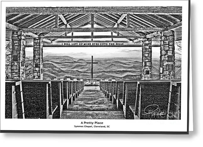A Pretty Place - Architectural Rendering Greeting Card by A Wells Artworks