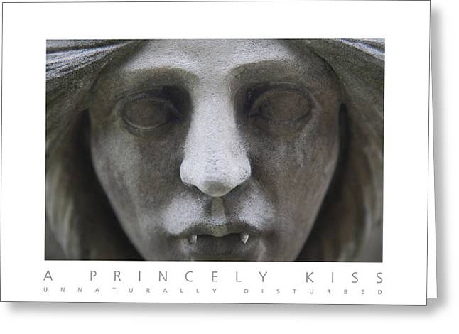 Greeting Card featuring the digital art A Princely Kiss Unnaturally Disturbed Poster by David Davies