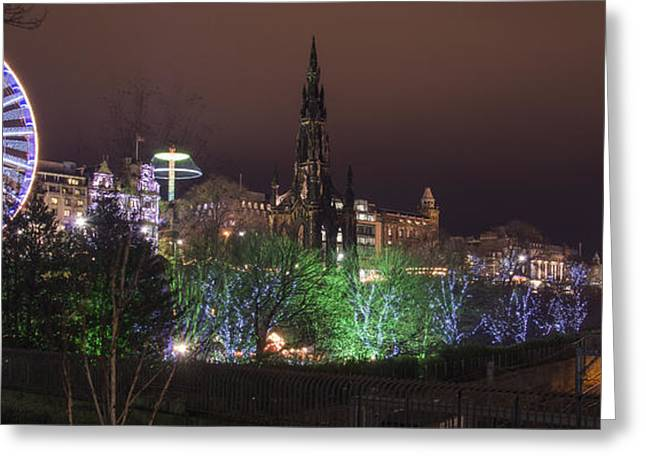 A Princes Street Gardens Christmas Greeting Card