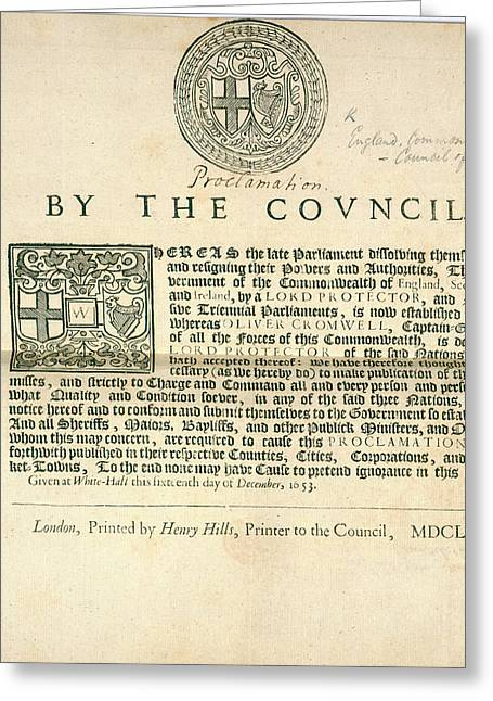 A Proclamation Greeting Card by British Library