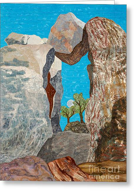 A Question Of Balance Greeting Card by Patricia Gould