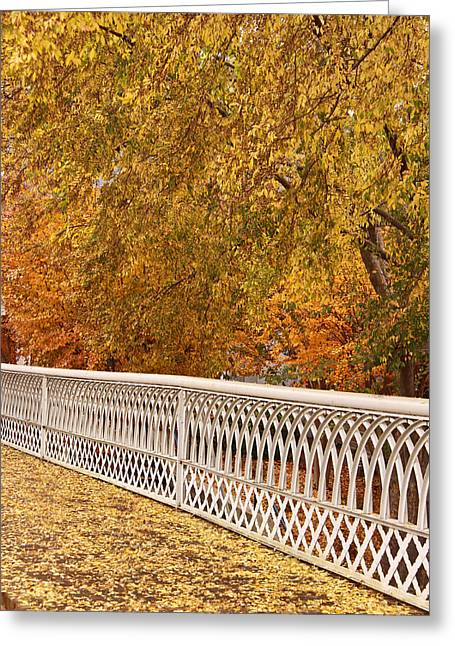 A Quiet Day On The Riverwalk Greeting Card by Tom and Pat Cory