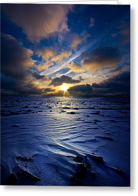 A Quiet Reckoning Greeting Card by Phil Koch