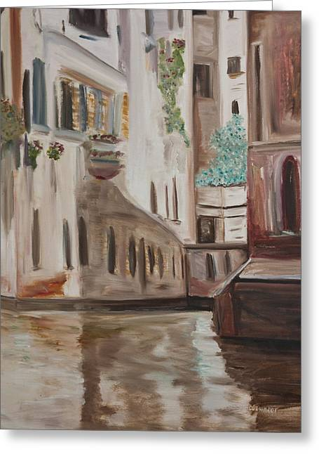 A Quiet Venice Canal Greeting Card
