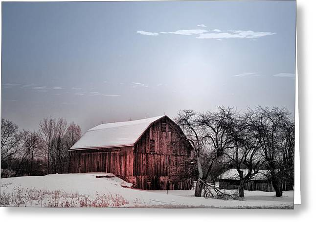 A Quiet Winter Day Greeting Card by Bill Cannon