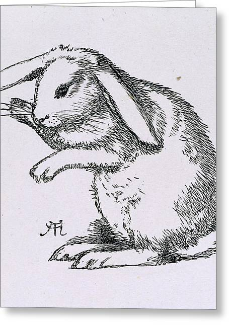 A Rabbit Greeting Card by British Library