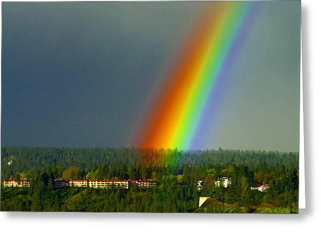 A Rainbow Blessing Spokane Greeting Card