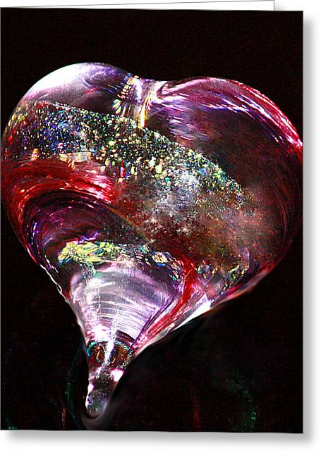 Greeting Card featuring the photograph A Rainbow's Heart by The Art Of Marilyn Ridoutt-Greene