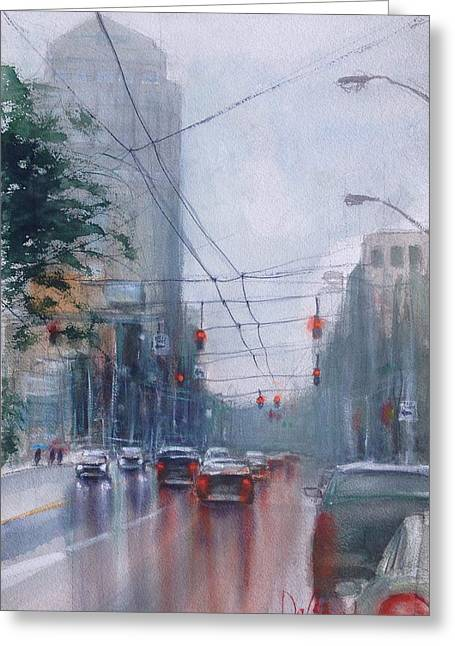 A Rainy Day In Dayton Greeting Card