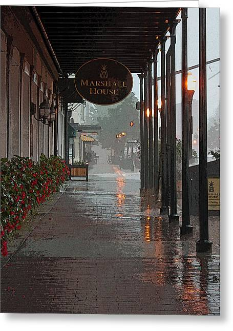 A Rainy Day In Georgia II Greeting Card by Suzanne Gaff