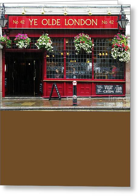 A Rainy Day In London Greeting Card