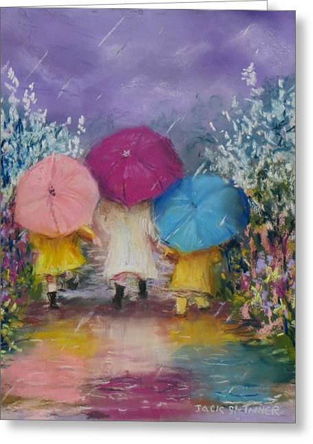 A Rainy Day Stroll With Mom Greeting Card