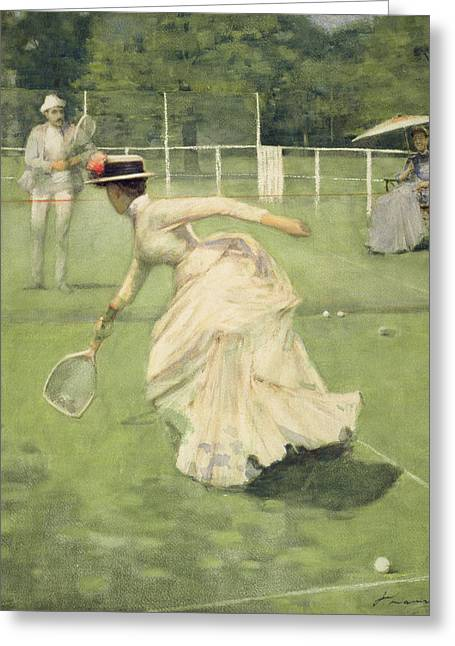 A Rally, 1885 Greeting Card by Sir John Lavery