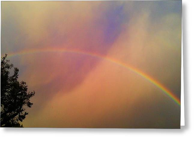 Greeting Card featuring the photograph A Ranbow by Chris Tarpening
