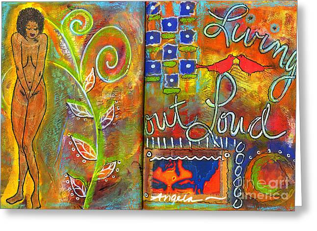 A Rebirth Of Sorts Greeting Card by Angela L Walker