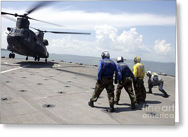 A Republic Of Singapore Air Force Ch-47 Greeting Card by Stocktrek Images