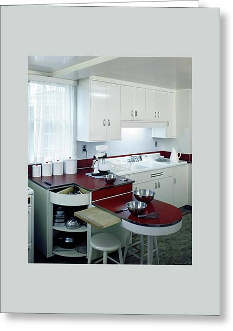 A Retro Kitchen Greeting Card by Wiliam Grigsby