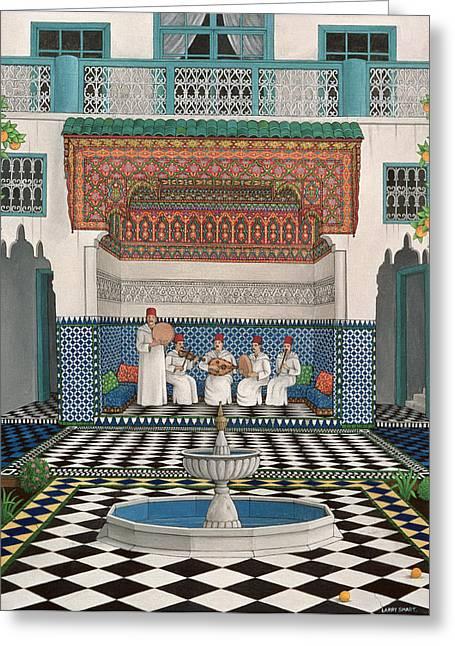 A Riad In Marrakech, 1992 Acrylic On Canvas Greeting Card