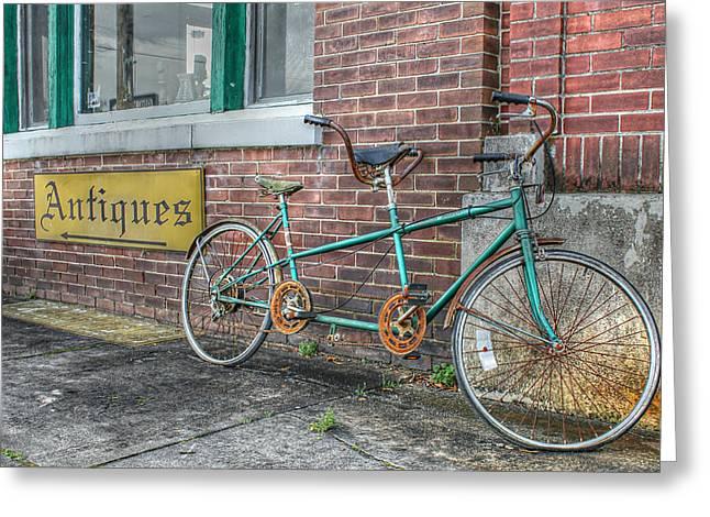 A Ride For Two Greeting Card by Lynn Jordan