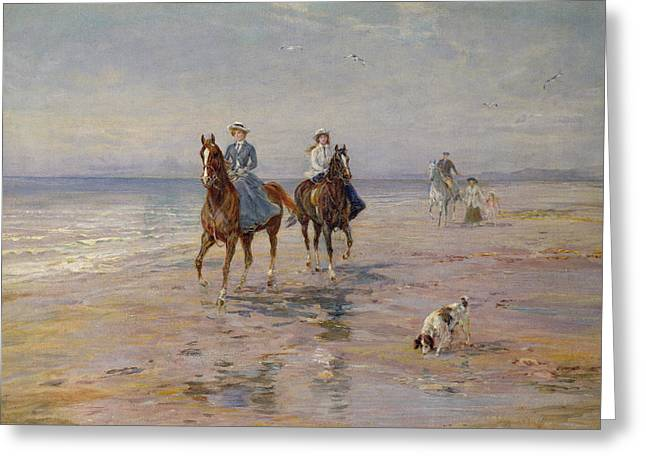 A Ride On The Beach, Dublin Greeting Card