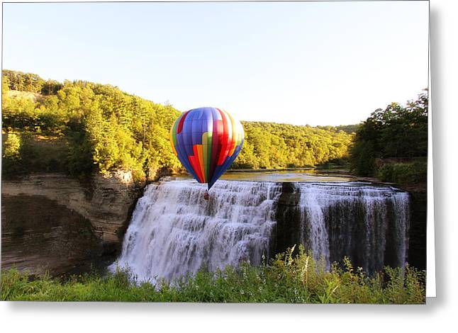 A Ride Over The Falls Greeting Card