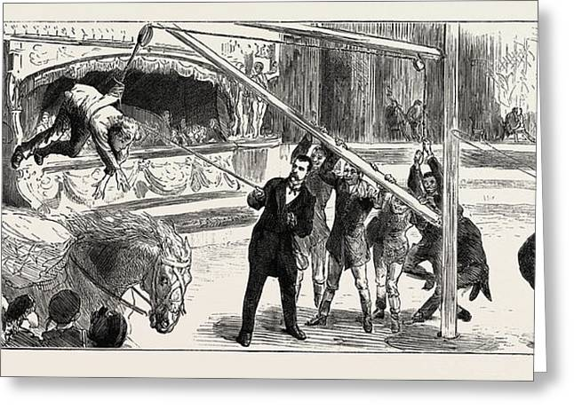 A Riding-lesson At Sangers Circus Greeting Card