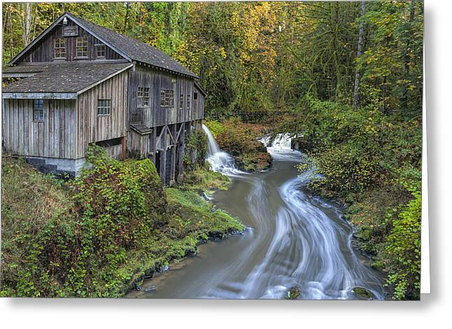 A River Flows Through It Greeting Card by David Gn