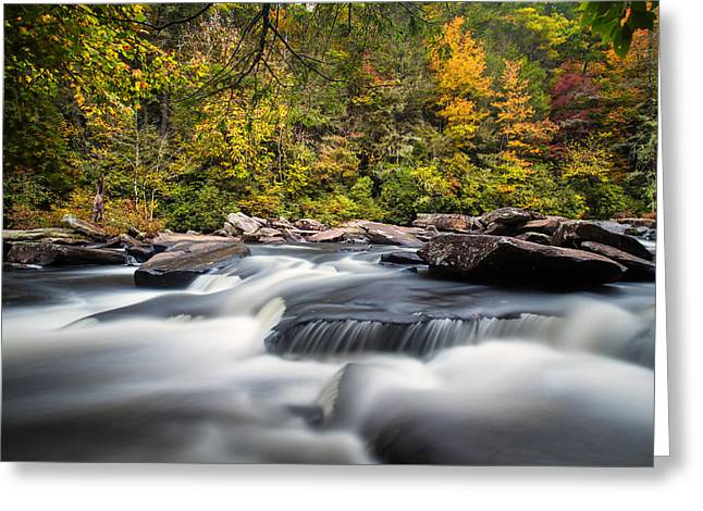 A River Is Furious And Smooth Greeting Card by Andres Leon