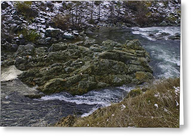 Greeting Card featuring the photograph A River Runs Through It by Sherri Meyer