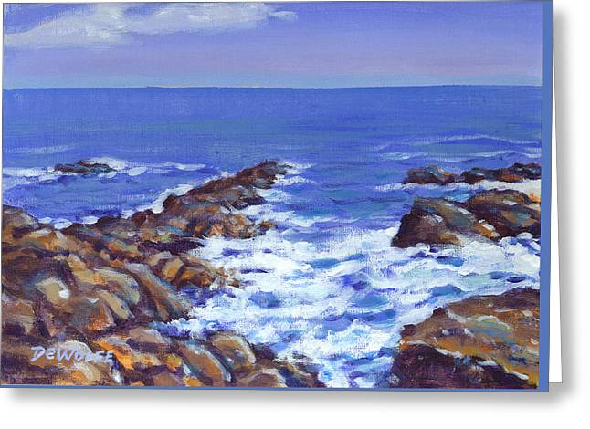 A Rocky Coast Greeting Card