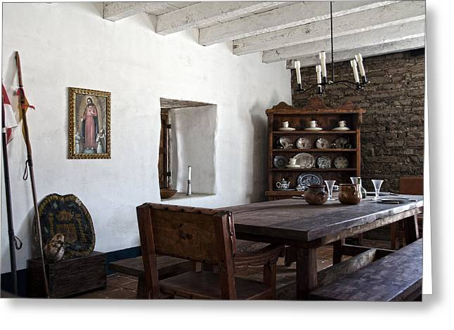 A Room In The Presidio Of Santa Barbara Greeting Card