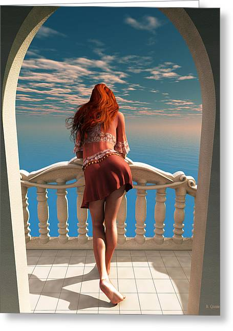 A Room With A View Greeting Card