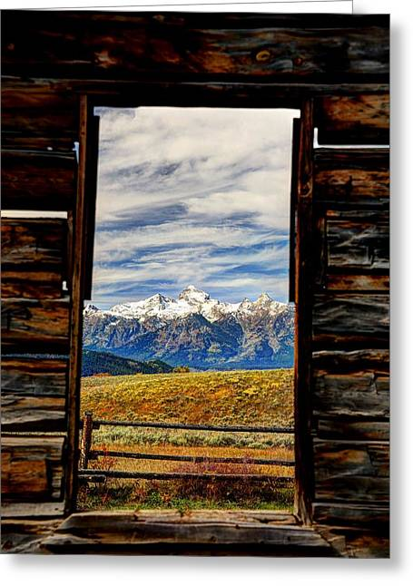A Room With A View Greeting Card by Jean Hutchison