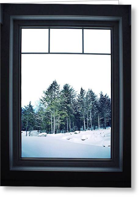 A Room With A View Greeting Card by Natasha Marco