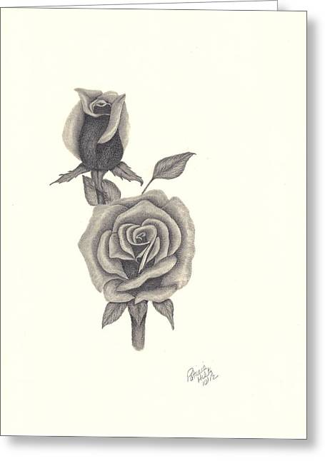 A Roses Beauty Greeting Card by Patricia Hiltz