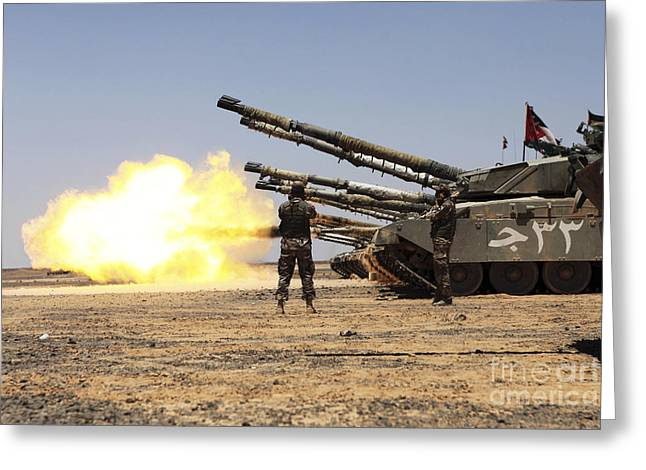 A Royal Jordanian Land Force Challenger Greeting Card by Stocktrek Images