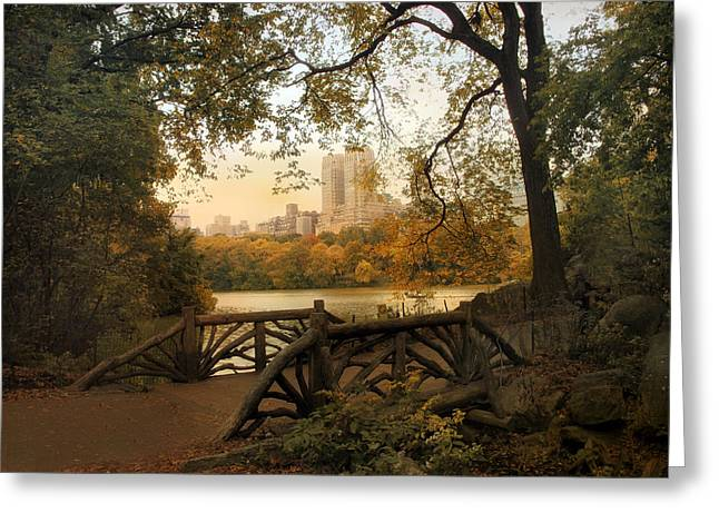 A Rustic City View Greeting Card