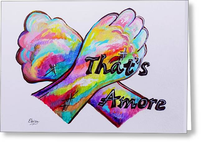 Caddy Mixed Media Greeting Cards - A S L ... Thats Amore Greeting Card by Eloise Schneider