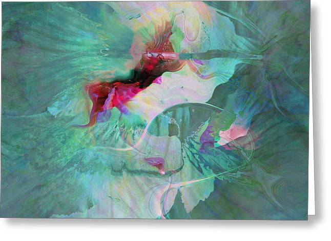 A Sacred Place - Abstract Art Greeting Card by Jaison Cianelli