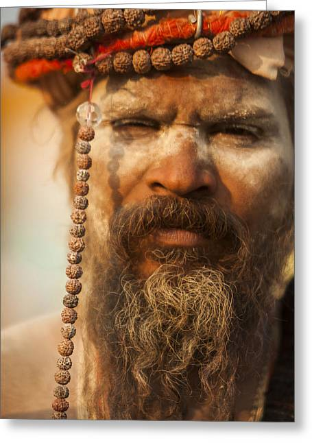 A Sadhu At The Mahakumbh Greeting Card