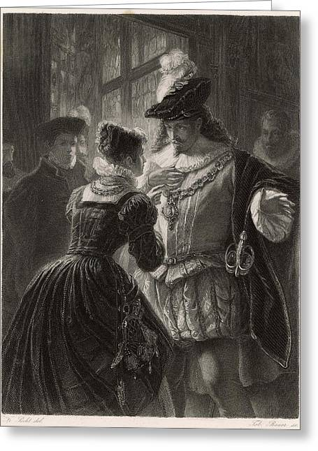 A Scene From Shakespeare's Comedy (or Greeting Card by Mary Evans Picture Library
