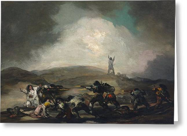 A Scene From The Spanish War Of Independence Greeting Card by Francisco Goya