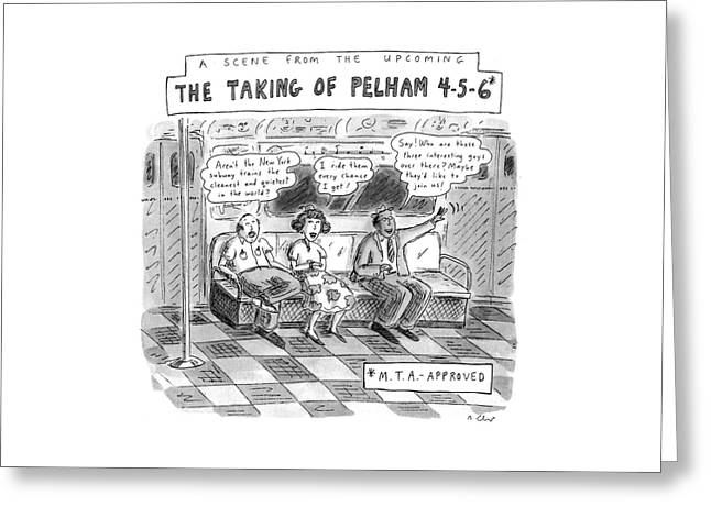 A Scene From The Upcoming The Taking Of Pelham Greeting Card