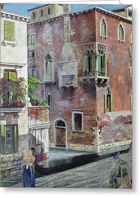 A Scene In Venice Greeting Card by Sir Caspar Purdon Clarke