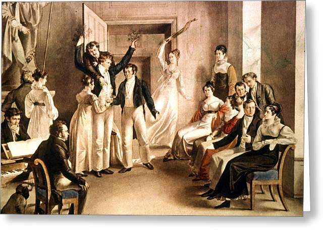 A Schubertian Party Greeting Card by Granger