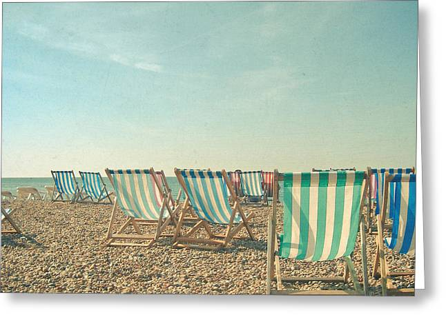 A Sea View Greeting Card by Cassia Beck